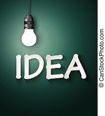 Light bulb idea concept .