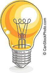 Light bulb idea concept vector illustration isolated on white background.
