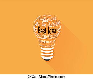 Light bulb idea concept . Vector illustration.