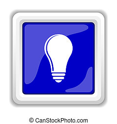 Light bulb - idea icon. Internet button on white background.