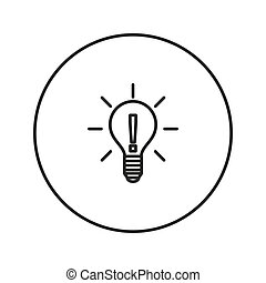 Light bulb. Idea.