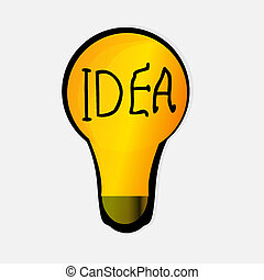 light bulb idea
