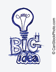 light bulb idea in illustration