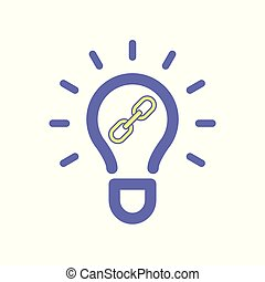 Light bulb idea link icon