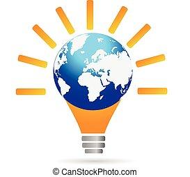 Light bulb idea logo