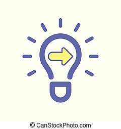Light bulb idea next icon