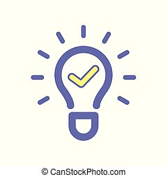 Light bulb idea ok icon