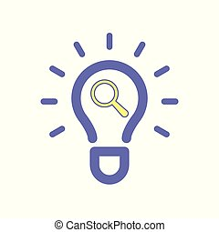 Light bulb idea search icon