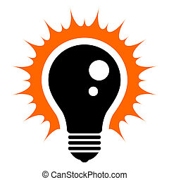 Light Bulb - Idea! Simplified illustration of a glowing...