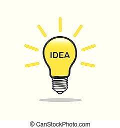 light bulb idea sing yellow
