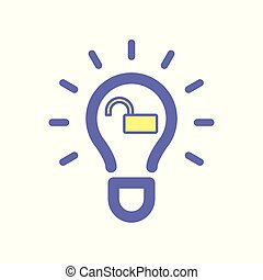 Light bulb idea unlock icon