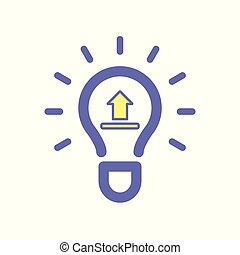 Light bulb idea upload icon