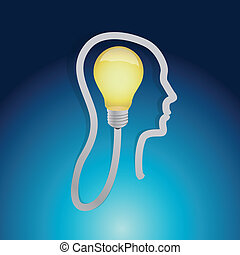 light bulb ideas concept illustration design
