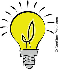 illustration of a comic style light bulb