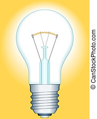 Light bulb - Illustration of the glowing light bulb