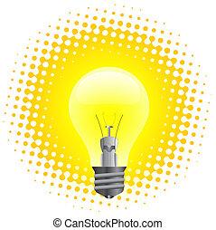 Light bulb - Realistic illustration of light bulb isolated...