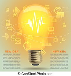 Light bulb - Lightbulb idea symbol. Modern design template...