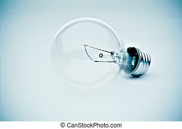 Light bulb in blue - contrasty lightbulb in a subtle...