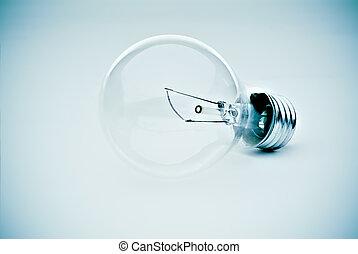 Light bulb in blue - contrasty lightbulb in a subtle...