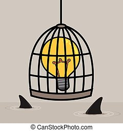 Light bulb in cage