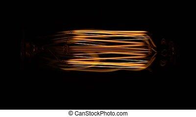 Light bulb in macro on black background