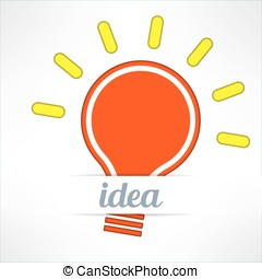 Light bulb inspirational background in modern simple design. Creativity and idea concept. Vector illustration.