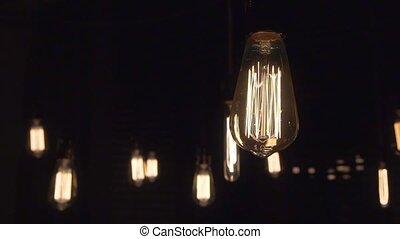 Light Bulb Isolated Filament Glow Slow Flashing - light bulb...