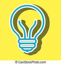 light bulb isolated icon design