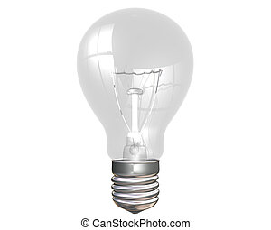Isolated illustration of an everyday light bulb