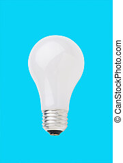 light bulb isolated on blue background