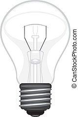 Light bulb isolated on the white