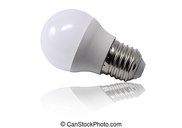 Light bulb isolated on white background - Opaque light bulb...