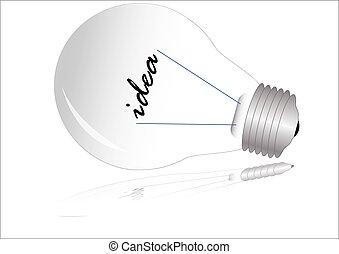 Light bulb isolated on white, vector