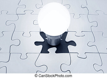 Light bulb jigsaw