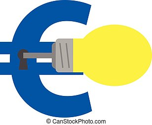 Light bulb key unlocking euro