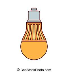 Light bulb lamp icon, cartoon style