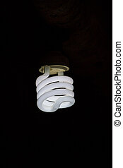 Light bulb lamps on background
