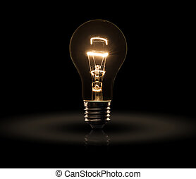Light bulb - light bulb isolated on a black bakground