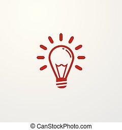 Light Bulb line icon. Idea solution sign.