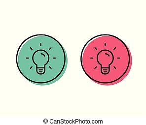 Light Bulb line icon. Lamp sign. Vector