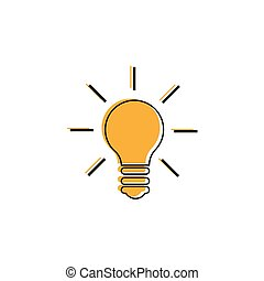 Light Bulb line icon vector. Idea sign, solution, thinking concept. Lighting Electric lamp. Electricity, shine