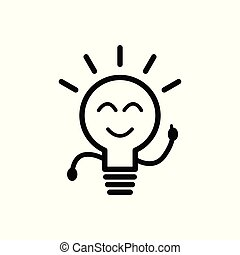 Light Bulb line icon vector isolated on white background. Idea sign, solution, thinking concept. Lighting Electric lamp