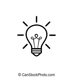 Light Bulb line icon vector, isolated on white background. Idea sign