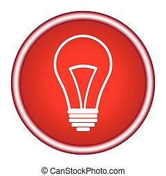 Light Bulb line icon vector, isolated on white background. Idea sign, solution, thinking concept. Lighting Electric lamp. Electricity, shine.