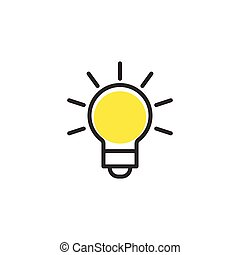 Light Bulb line icon vector, isolated on white background. Idea sign, solution, thinking concept. Lighting Electric lamp.
