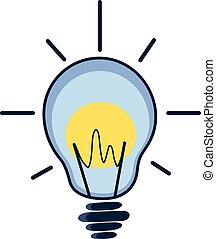 Light bulb. Line vector