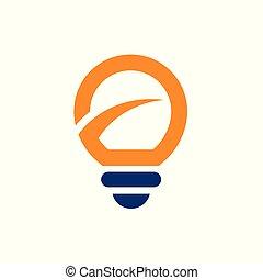 Light Bulb Logo Icon