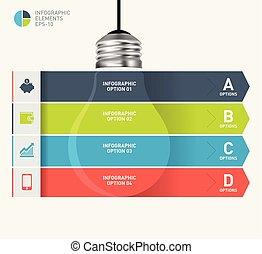 Light bulb modern infographic template