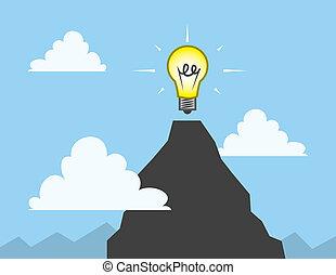 Light Bulb Mountain Top