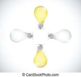 light bulb off and on. illustration design